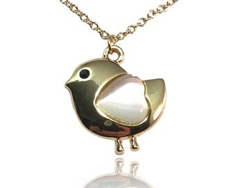 NEW! Bird Necklace - Gold Plated