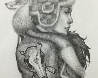 "Fox Hunter - Original Art - 8.5""x11"""