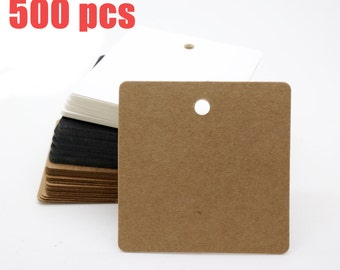 Combined Listing- 500 pcs of Square tags