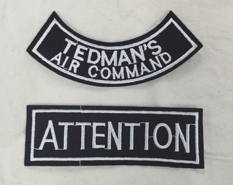 Iron on Attention / Tedman's Air Command Patch