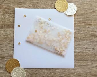 "Save the Date "" confetti envelope """