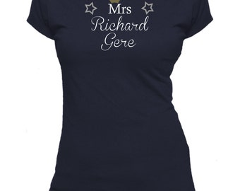 Mrs Richard Gere. Ladies fitted t-shirt.