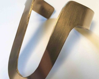 """Brass """"U"""" cuff"""