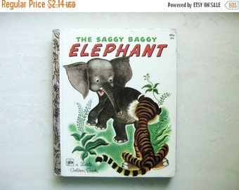Little Golden Book #385 1947/1974 The Saggy Baggy Elephant