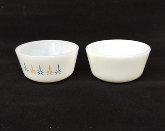 2 Vintage Mid-century Fire King Custard Cup Ramicans 1/2 cup - Quantity 2