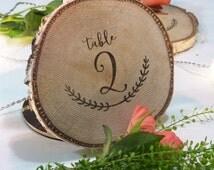 6 log wood decoration table - diameter 15cm