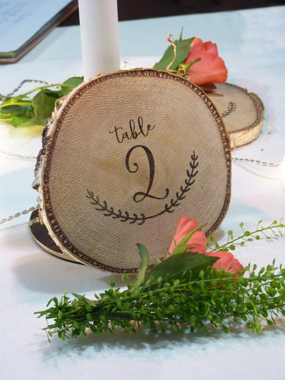20 logs wood decoration table diameter 15cm - Rondin bois deco ...