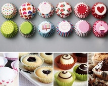 120pcs mini cupcake liners chocolate paper cup holder chocolate cases