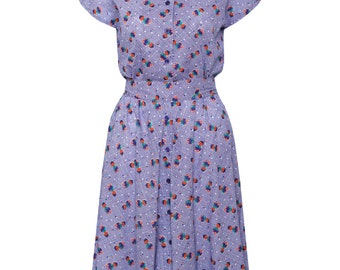 SALE!!monkeys print dress,classic dress,50's style dress, retro dress, summer dress, graphic dress, short sleeve dress, buttoned dress