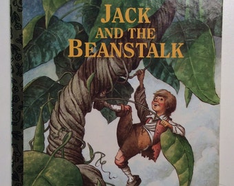 Jack And The Beanstalk Vintage Little Golden Book Chik Fil A Exclusive 1992