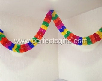 Mexican Fiesta - Party - Round Style Papel Picado Banner -