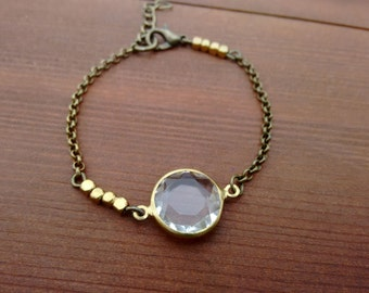 Boho Diamond Bronze Bracelet
