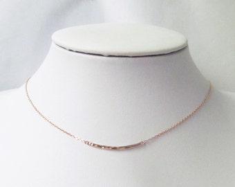 dainty rose gold necklace, delicate rose gold necklace, minimal jewelry, dainty bar necklace, minimalist jewelry