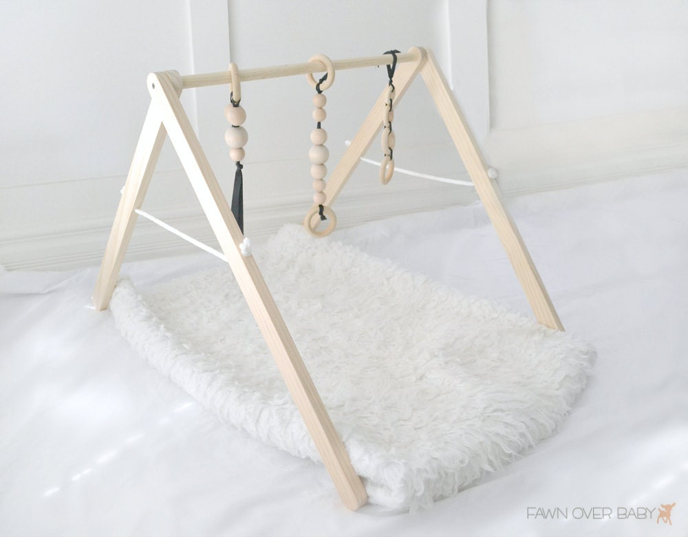 Wooden Baby Play Gym Baby Activity Gym Natural Wood Baby