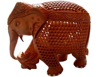 Wood Elephant - Hand carved