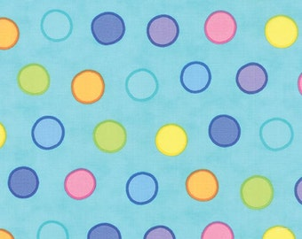 Dot Dot Dash Turquoise Bubble Dot From Moda by the yard