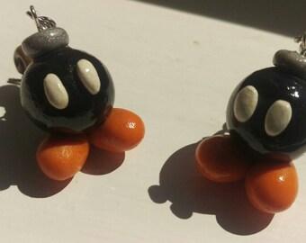 Handmade Bob-omb Earrings