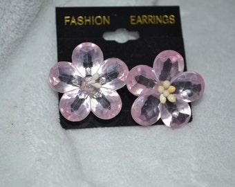 Plastic Flower Earring