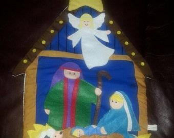July20 Soft Nativity Scene Wall Hanging