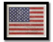 United States of America Flag Print - 11x14""