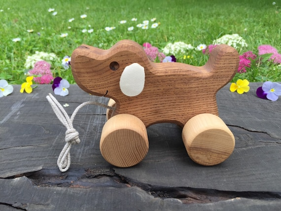 Pull My Strings Walk Tall: Items Similar To Big Wooden Toy Dog, Pull Along Toy