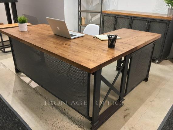 The industrial L shape Carruca fice Desk Executive