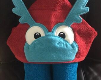 Doc Mcstuffins Stuffy/stuffie inspired hooded towel bath, pool or beach