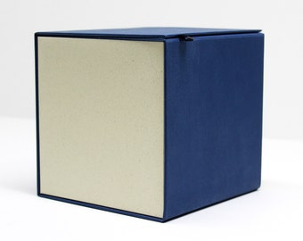 10x Coover Cube / Blue & Ivory / Jewelry box / Gift box