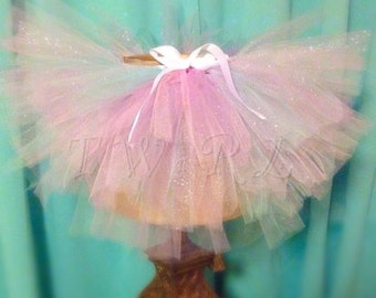 Ready to ship *** ON SALE *** pastel baby tutu, birthday tutu, pastel mint, lavender, pink and white tutu for sizes newborn - 18 months