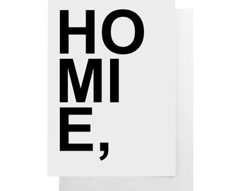 homie note card