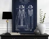 1902 Oil Drill Patent Wall Art Poster, Oil Drill Poster, Texas Art, Home Decor, Gift Idea, PFEN06