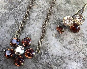 Swarovski daisy necklace