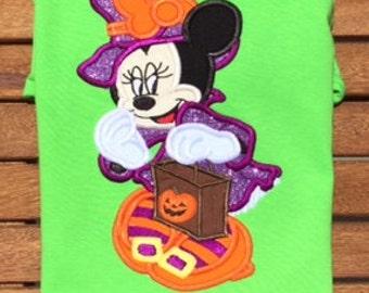Miss Mouse Witch Disney World Halloween Minnie MNSSHP Shirt