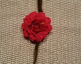 Big red flower dreadlock bead accesoire