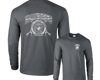 Marine Corps Kicking Ass ince 1775 USMC Military Long Sleeve T-Shirt