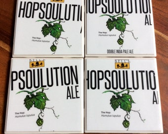 Bell's Hopsoulution Ale Beer Coasters