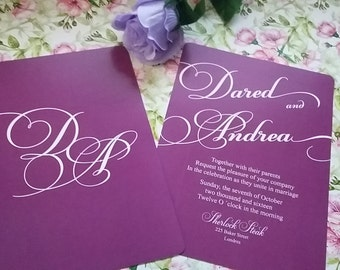 Personalized Wedding Invitation, Free Custom as you Wish, Wedding Invitation