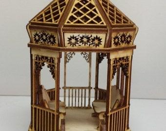 Quarter scale Victorian Gazebo  KIT 1:48 scale dollhouse Kit