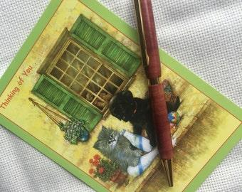 Western cedar turned pen