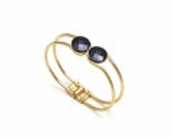 geometric bangle architecture bangle architecture bracelet geometric jewelry gift 40 birthday gift 30 birthday bracelet with black stone