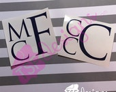 Block Monogram decal...
