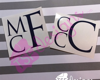 Block Monogram decal