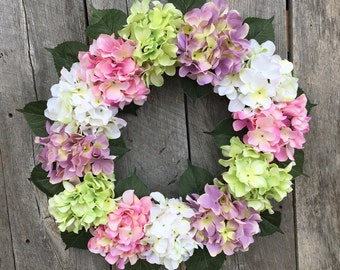 Spring Wreath, Summer Wreath, Hydrangea Wreath, Floral Wreath, Front Door Wreath, Garden Wreath