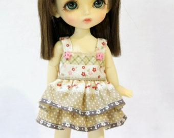 Dress and Bow For Lati Yellow / Pukifee Outfit #L015