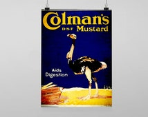 Colmans Mustard - Vintage Reproduction Wall Art Decro Decor Poster Print Any size