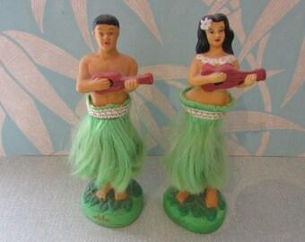 Vintage dashboard Hawaiian 'Aloha' Hula dolls
