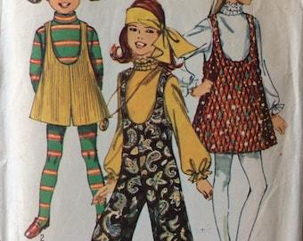 Simplicity 8379 girls jumper & jumpsuit size 10 vintage 1960's sewing pattern