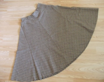 Winter Wool Blend Vintage High Waist Full A Line Midi Skirt size 8 / S