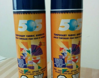 Two Large, 500ml Cans , 505 Temporary Adhesive Spray