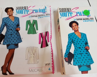 Suddenly You're Sewing VHS Video and Pattern by Daphne Maxwell Reid and McCall Patterns